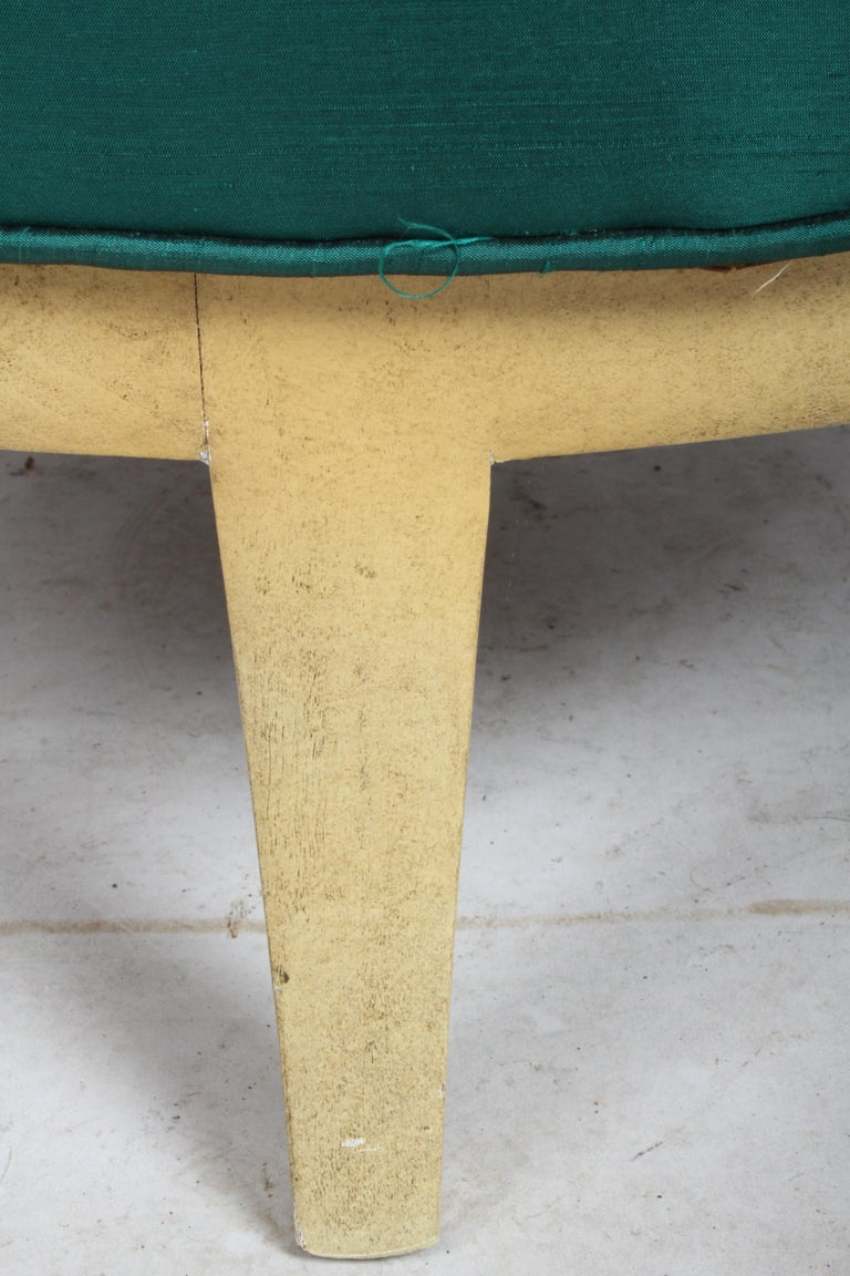 Slipper Chair in the Style of Samuel A. Marx, Architect For Sale 3