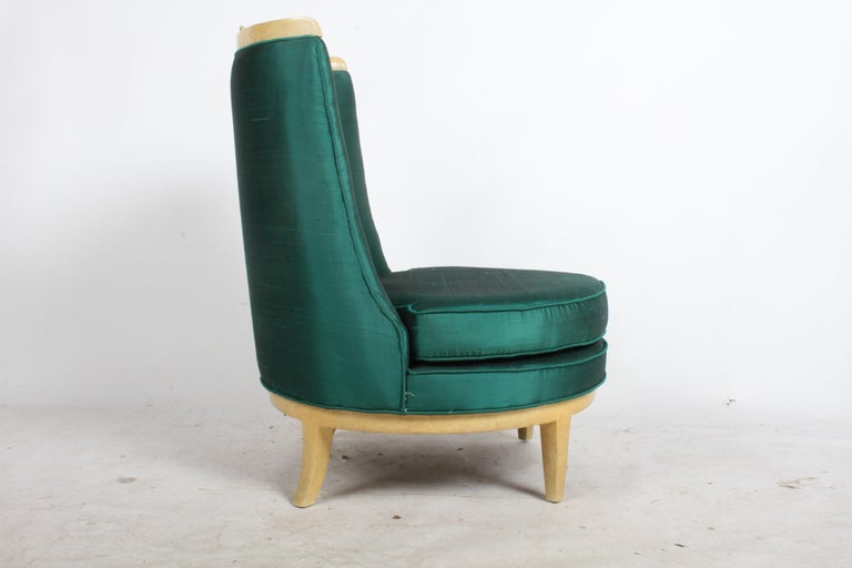Mid-Century Modern Slipper Chair in the Style of Samuel A. Marx, Architect For Sale