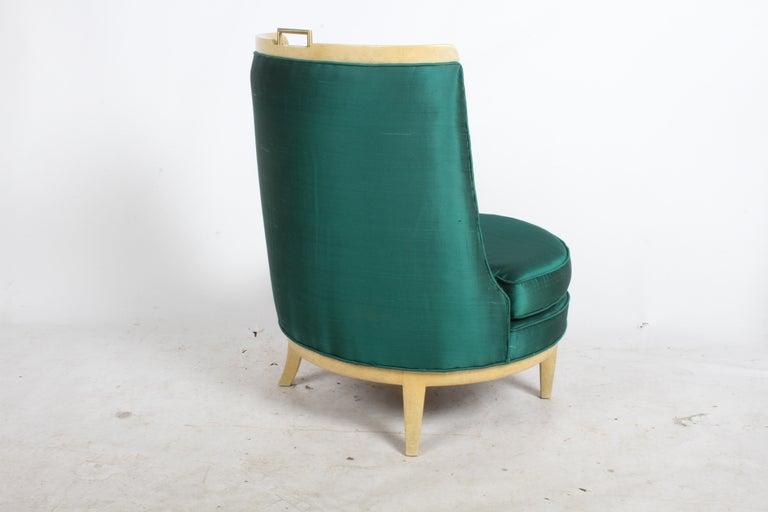 American Slipper Chair in the Style of Samuel A. Marx, Architect For Sale