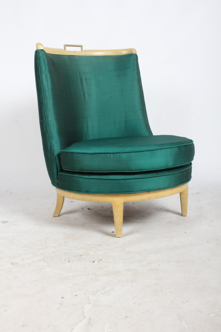 Slipper Chair in the Style of Samuel A. Marx, Architect In Good Condition For Sale In St. Louis, MO