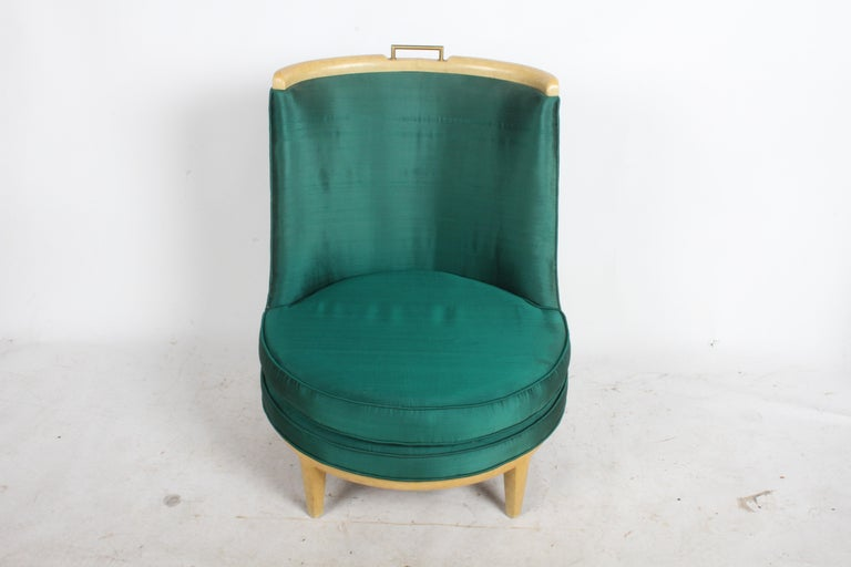 1950s Slipper Chair in the Style of Samuel A. Marx, Architect For Sale
