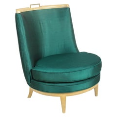 1950's Faux Finish Slipper Chair in the Style of Samuel A. Marx - Architect