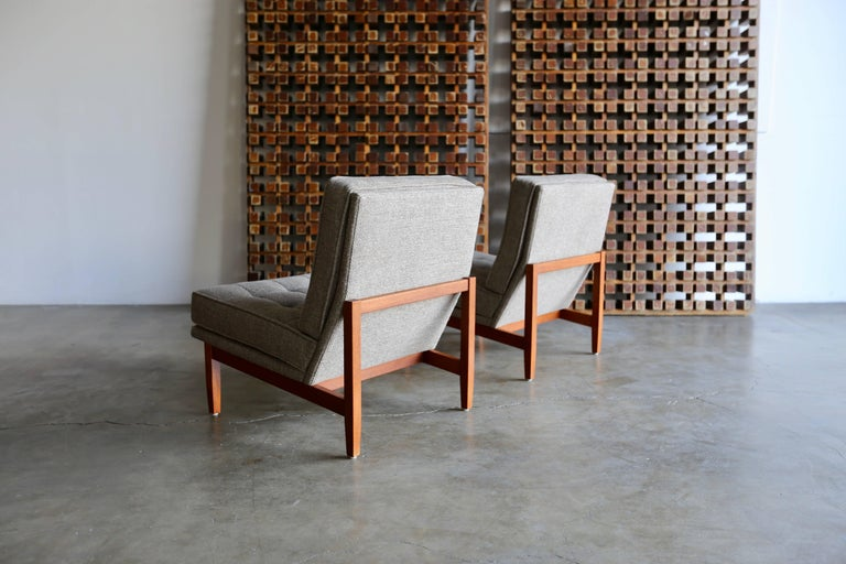 Fabric Slipper Lounge Chairs by Florence Knoll