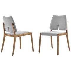 Slit Fabric Dining Chair
