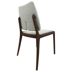 Slit Fabric Dining Chair