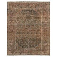 Silver Vintage Malayer Handmade Wool Rug
