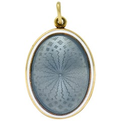 Sloan & Co. Art Nouveau Enamel 14 Karat Gold Locket, circa 1915