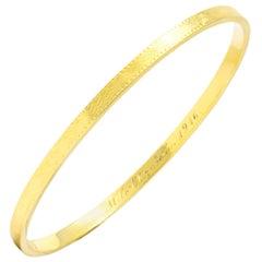 Sloan & Co. Edwardian 14 Karat Yellow Gold Bangle Bracelet