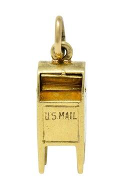 Sloan & Co. Enamel Heart 14 Karat Gold Mailbox Charm