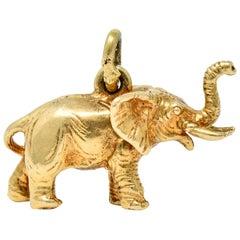 Sloan & Co. Retro 14 Karat Gold Elephant Charm