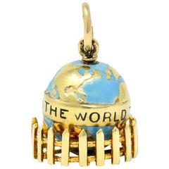 Sloan & Co. Retro 14 Karat Gold Globe Charm