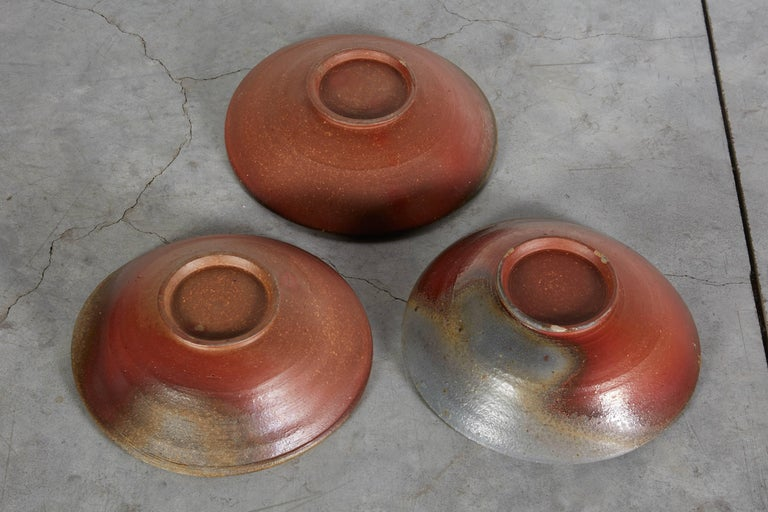 Slow Fired Japanese Bizen Ware Bowls For Sale 2