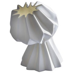 """Slump"" Contemporary Origami Ceramic Vase by Studio Morison, Full Slump Type"