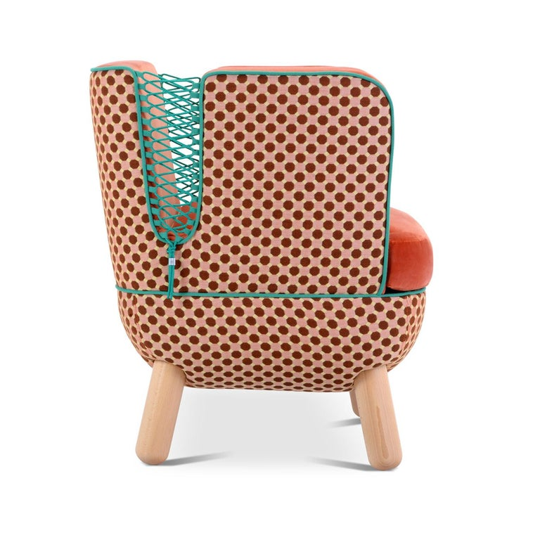 Modern Sly Low Armchair Rombi with Ropes by Italo Pertichini For Sale