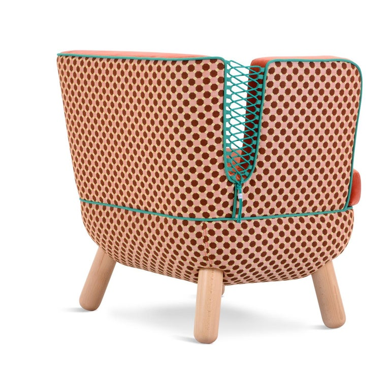 Italian Sly Low Armchair Rombi with Ropes by Italo Pertichini For Sale