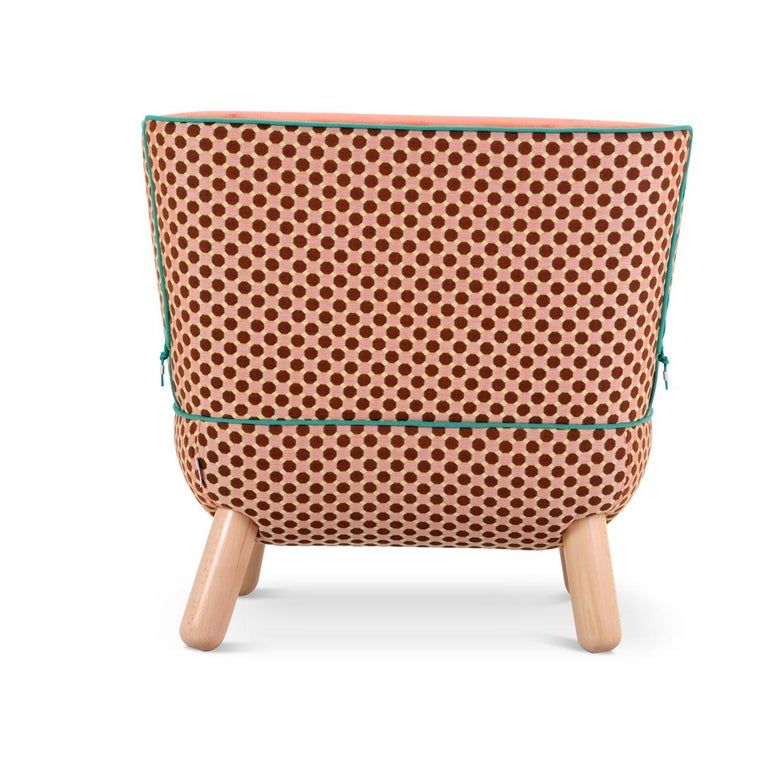 Sly Low Armchair Rombi with Ropes by Italo Pertichini In New Condition For Sale In Milan, IT
