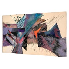 Smadar Livne Modernist Fiber Composition Abstract Wall Art Tapestry