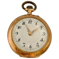 Small 14 Karat Gold Antique Fob / Pocket Watch