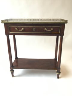 Small 1880s French Regency Marble Top Console