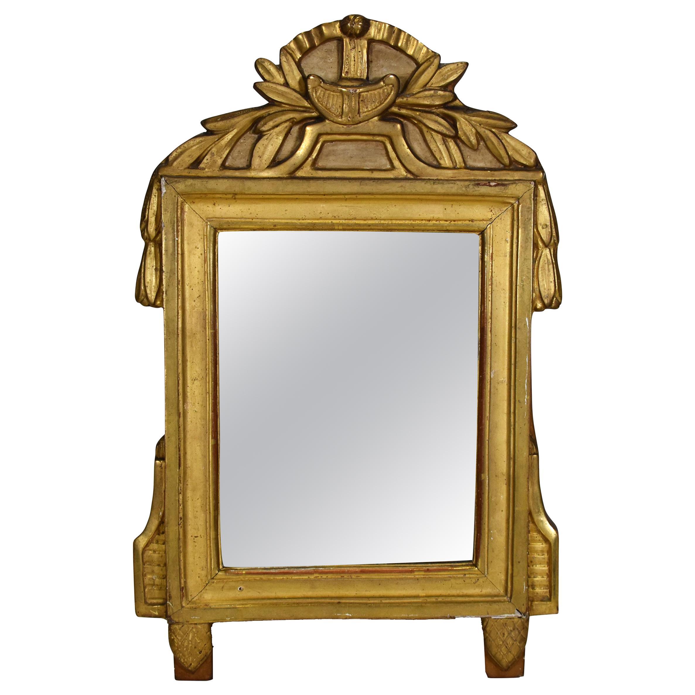 18th Century Louis XVI Gold Gilt Mirror