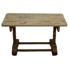 Small 18th-19th Century Weathered Oak Side Table