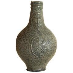 Small 18th Century Dark Stoneware Bellarmine Jug