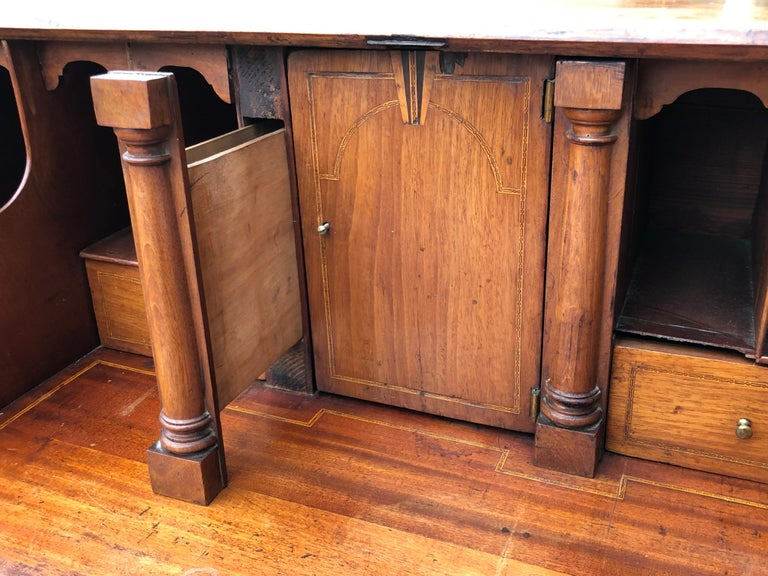 Small 18th Century English Bureau Desk Mahogany Slant