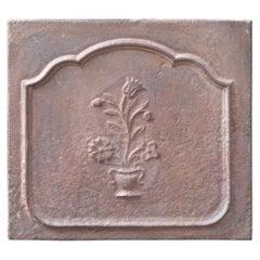 Small 18th Century French 'Flower Basket' Fireback