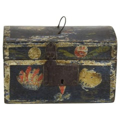 Small 18th Century French Folk Art Wedding Box from Normandy