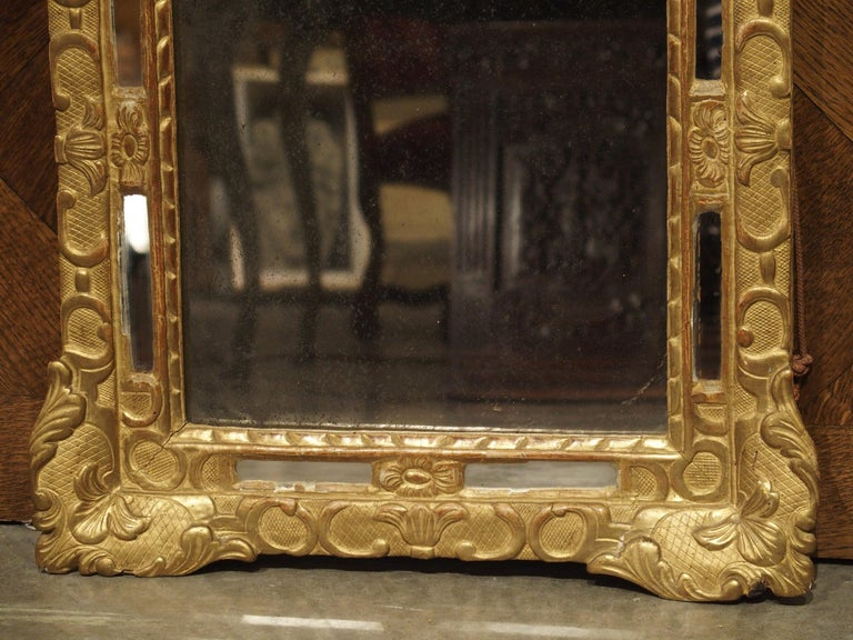"""Wood Small 18th Century French Giltwood Mirror """"a Parcloses"""" from Provence"""