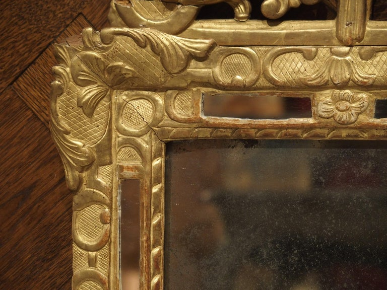 """Small 18th Century French Giltwood Mirror """"a Parcloses"""" from Provence 3"""