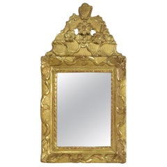 Small 18th Century French Louis XV Giltwood Mirror