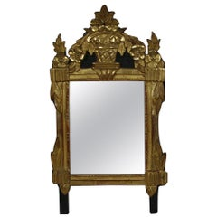 Small 18th Century French Louis XVI Giltwood Mirror
