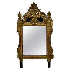 Small 18th Century French Louis XVI Giltwood Mirror