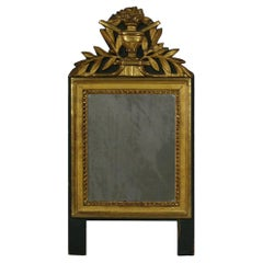 Small 18th Century French Louis XVI Style Giltwood Mirror