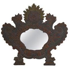 Small 18th Century, Italian Baroque Mirror