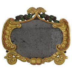 Small 18th Century, Italian Carved Giltwood Baroque Mirror