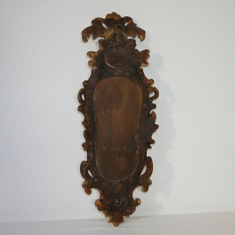Small 18th Century Italian Giltwood Baroque Mirror 2