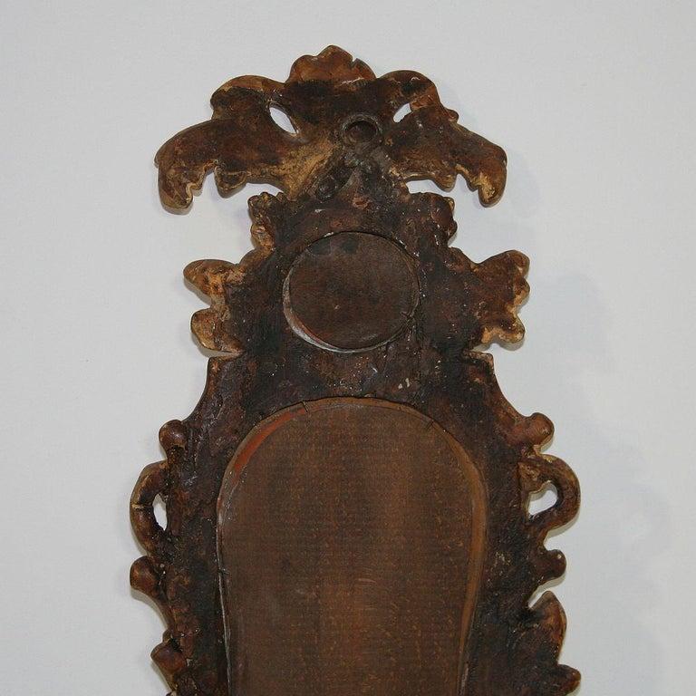 Small 18th Century Italian Giltwood Baroque Mirror 3
