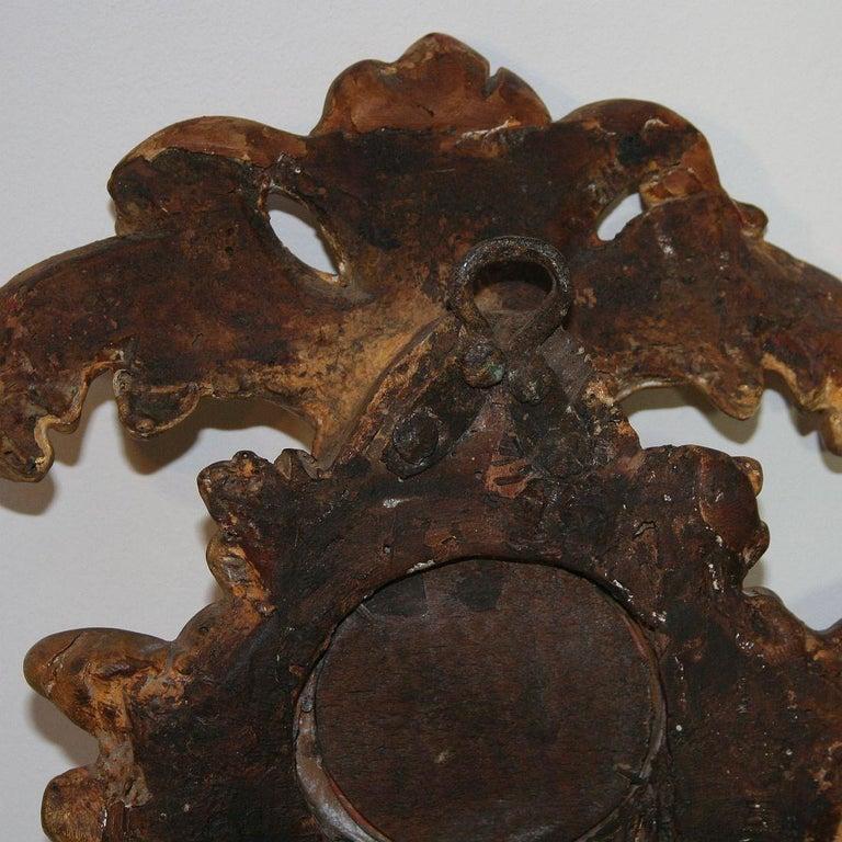 Small 18th Century Italian Giltwood Baroque Mirror 4