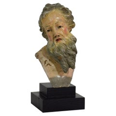 Small 18th Century Italian/ Neapolitan Terracotta Head of a Saint