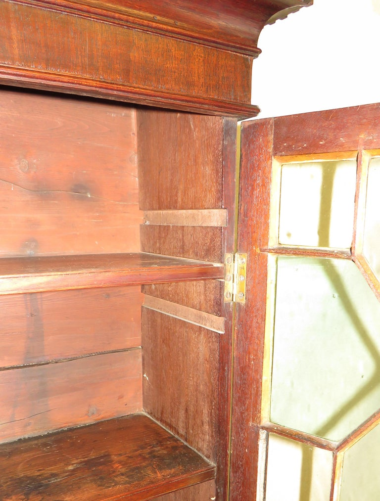 Small 18th Century Mahogany Cupboard Base Bookcase For Sale 1