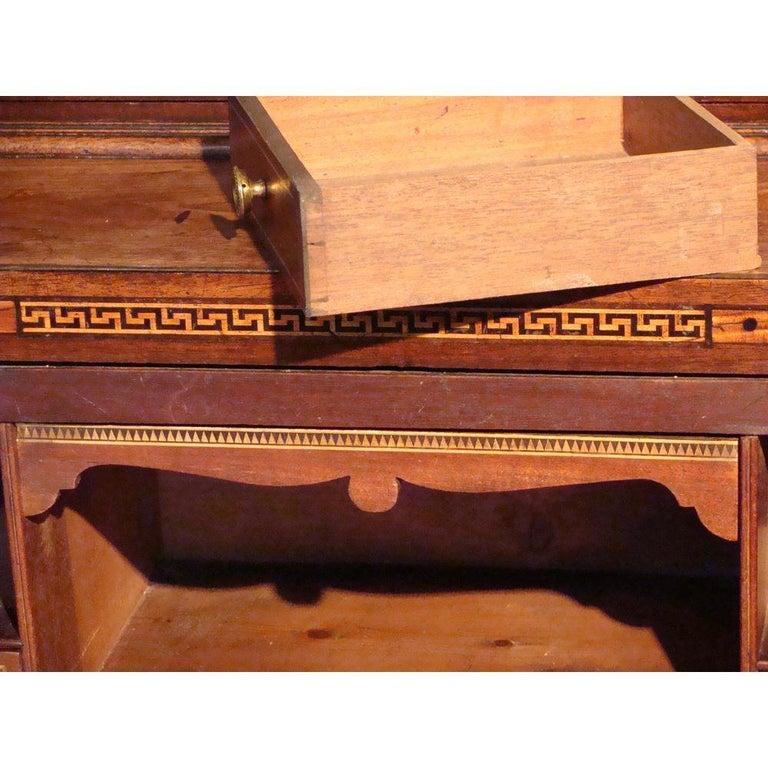 Small 18th Century Mahogany Secretaire Bookcase In Good Condition For Sale In Lymington, GB