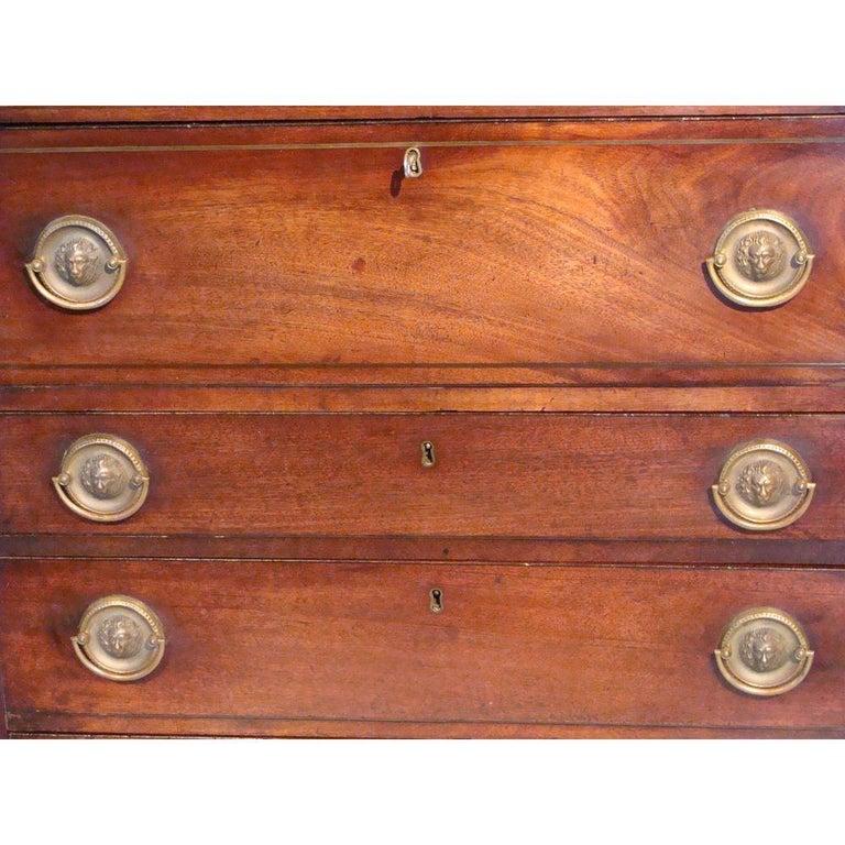 Small 18th Century Mahogany Secretaire Bookcase For Sale 2