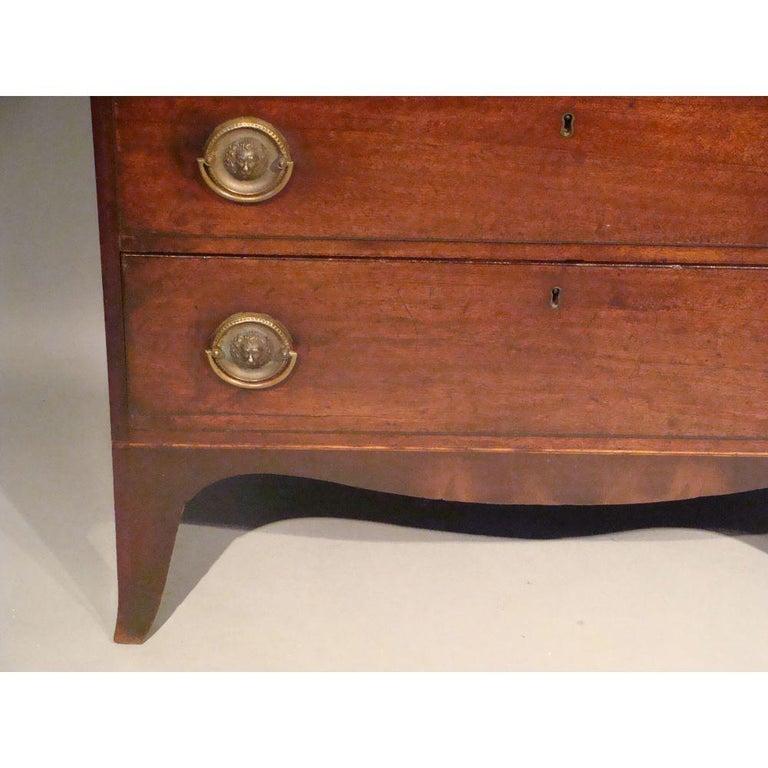 Small 18th Century Mahogany Secretaire Bookcase For Sale 3