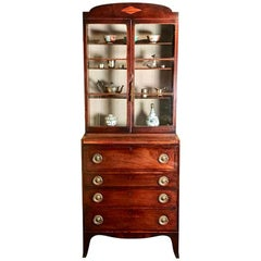 Small 18th Century Mahogany Secretaire Bookcase