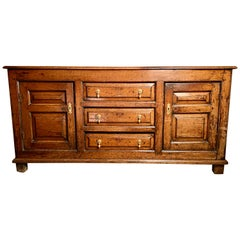 Small 18th Century Oak Welsh Dresser with Rack