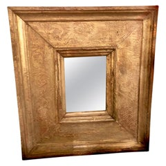 Small 18th Century Rectangular Gilded Wall Mirror, Venice, Italy