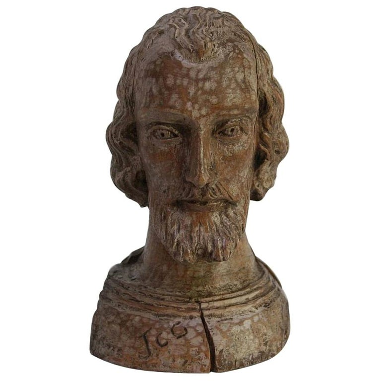 Small 18th Century Spanish Reliquary Bust For Sale