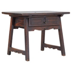 Small 18th Century Spanish Walnut Side Table